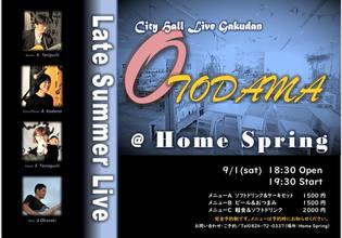 9月1日 OTODAMA@HOME SPRING